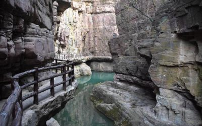 Yuntai Mountain (Yuntaishan Geopark) in China