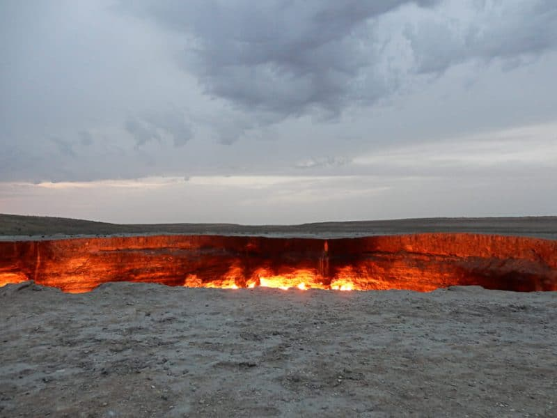 The Door to Hell at Darvaza, Turkmenistan, dark tourist